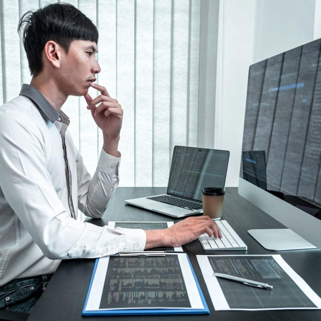 Webseitenerstellung asiatischer Programmierer